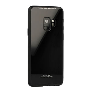 Telefontok Huawei Mate 20  - fekete Glass Case