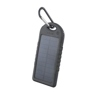 Powerbank: Setty Solar 2USB napelemes fekete power bank 5000mAh
