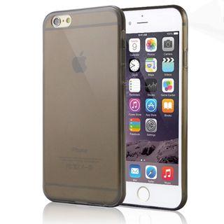 08e305b959 Telefontok iPhone 6/6s - ultravékony átlátszó szilikon tok fekete