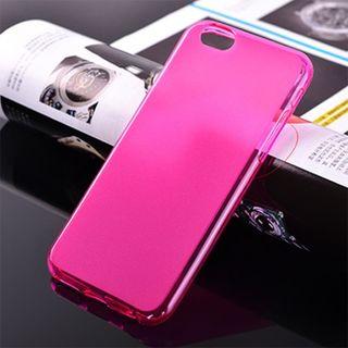 df1151d96b Telefontok iPhone 6 Plus - vastag áttetsző szilikon tok rózsaszín